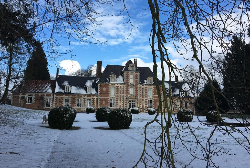 chateau de vauchelles neige