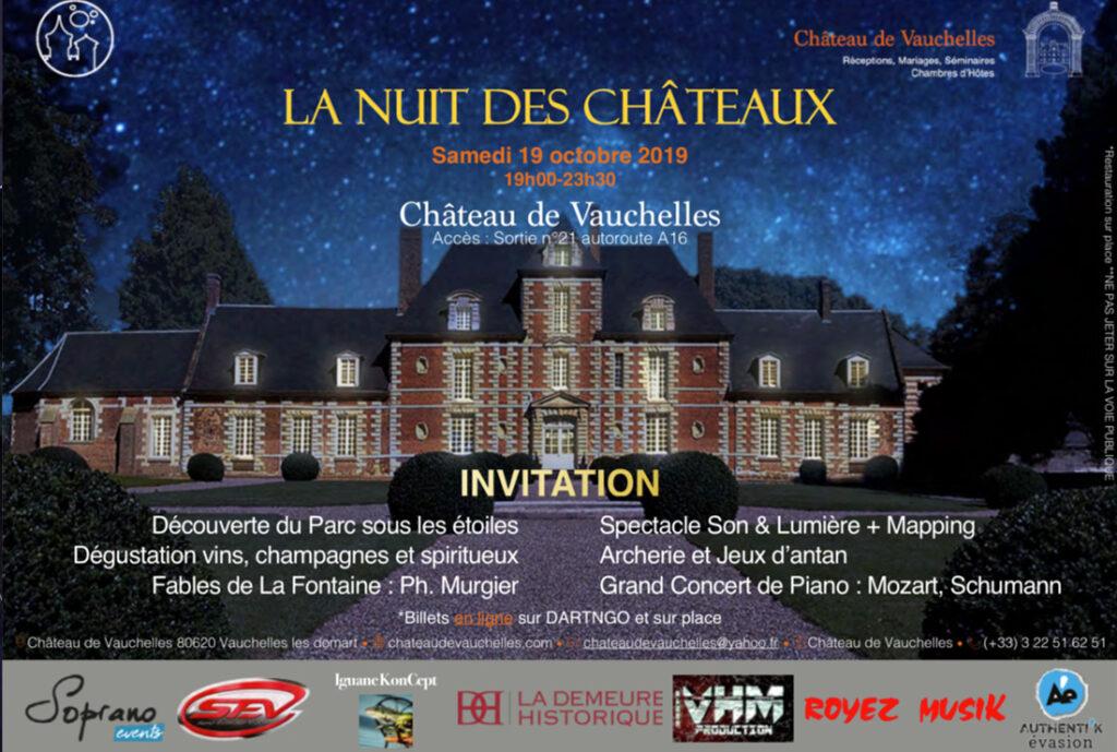 invitation la nuit des chateaux chateau de vauchelles